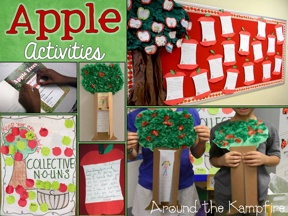 Apple themed activities for reading and writing
