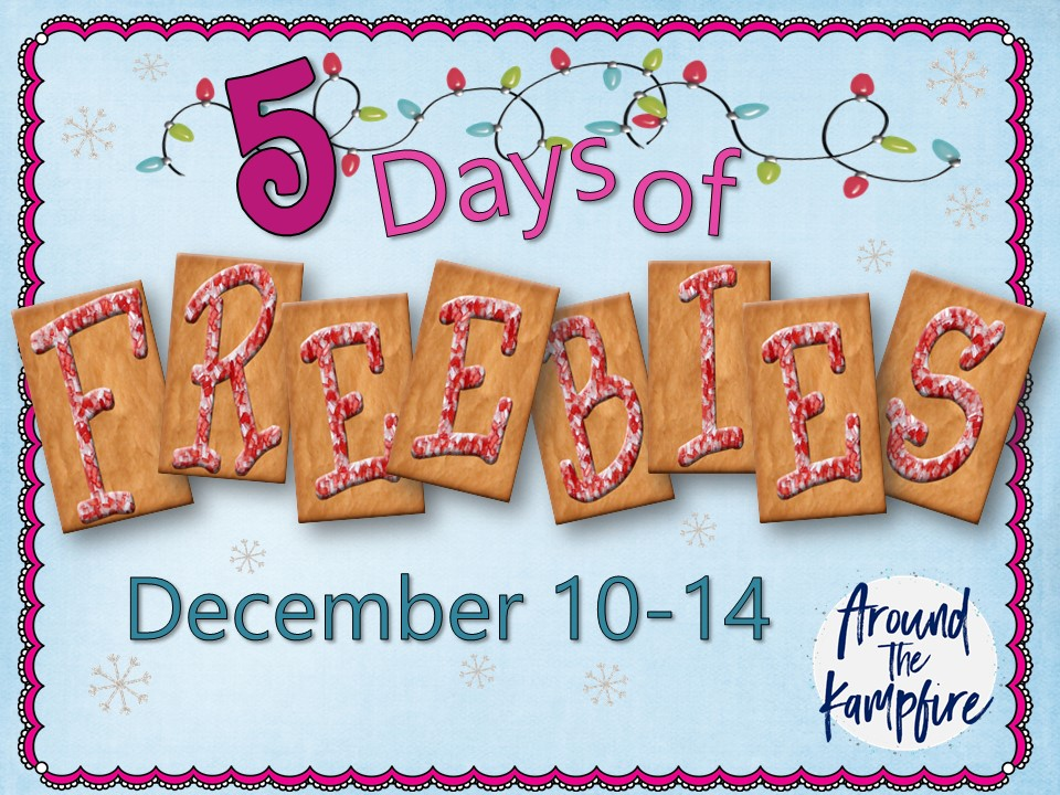 5 Days of Christmas Freebies~Gingerbread themed printables for the primary classroom!