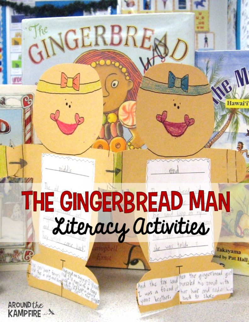 Gingerbread man literacy activities for comparing, analyzing and writing about the Gingerbread Man.