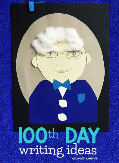 100th Day writing ideas for 2nd and 3rd grade-Students write personal narratives about when they are 100 years old then create these adorable self portraits!