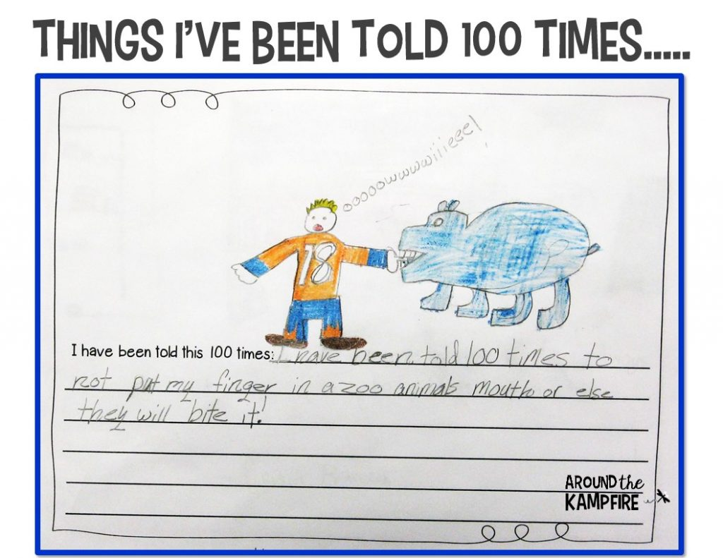 Free 100th day class book example