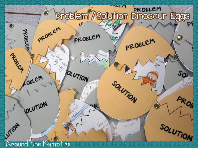 Little Grunt and the Big Egg by Tomie dePaola: Problem/solution dinosaur eggs craft