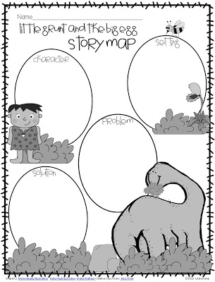 FREE story map for Little Grunt and the Big Egg by Tomie dePaola from Around the Kampfire