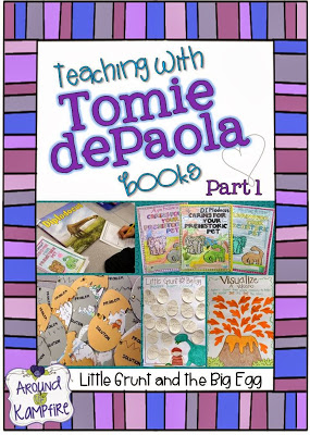 Teaching with Tomie dePaola Books Part 1: Little Grunt and the Big Egg & A Giveaway