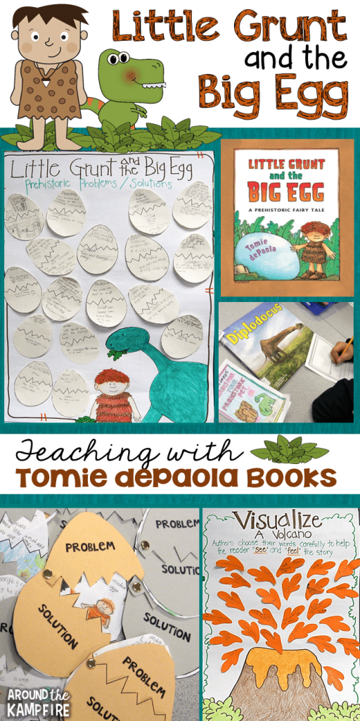 Teaching ideas and resources for Little Grunt and the Big Egg by Tomie dePaola.