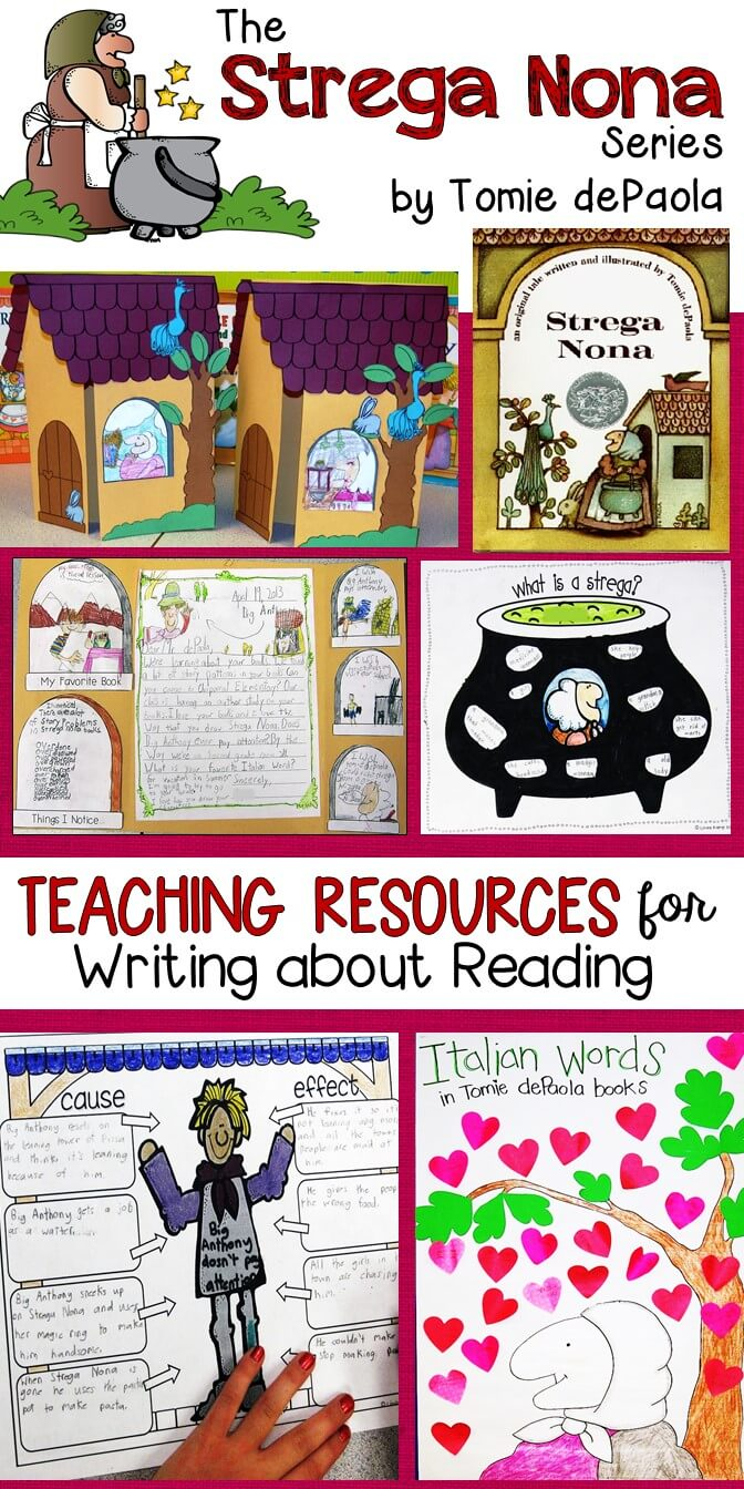 Teaching with Strega Nona-Activities to get students writing about reading
