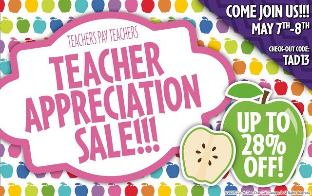 Teacher Appreciation Sale!