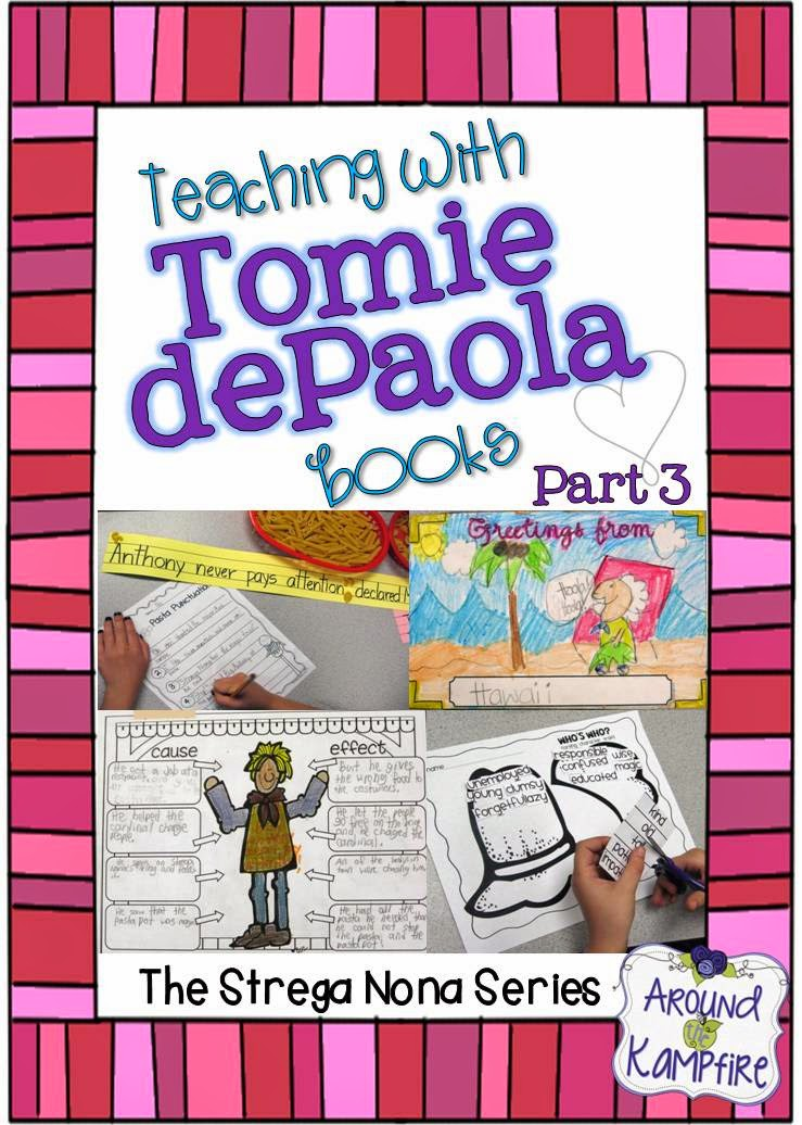 Teaching With Tomie dePaola Books Part 3: The Strega Nona Series & A Linky