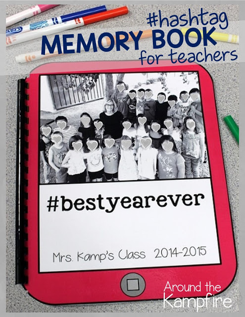 Hashtag Memory Book for Teachers