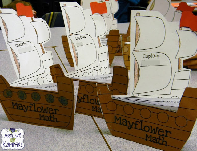 Thanksgiving math~ Mayflower problem solving booklets