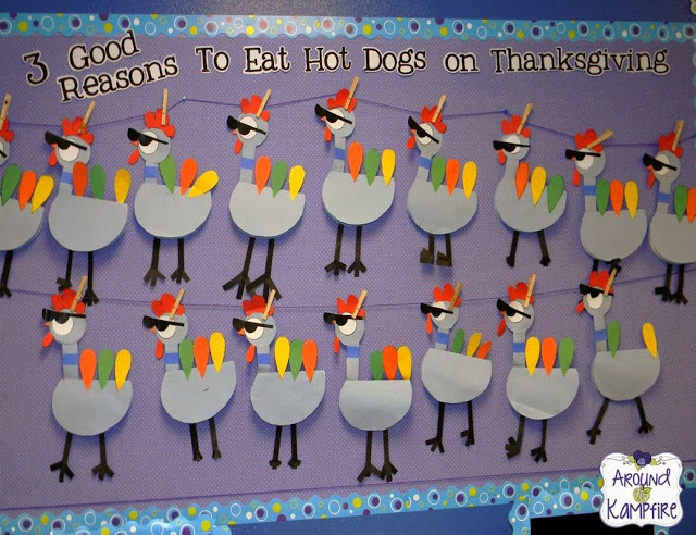 Thanksgiving persuasive writing Pigeon-style! bulletin board display