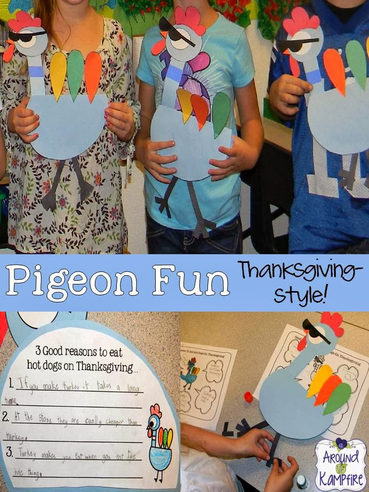 Pigeon Fun Thanksgiving-Style!