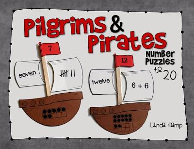 Pilgrim and pirates math puzzles