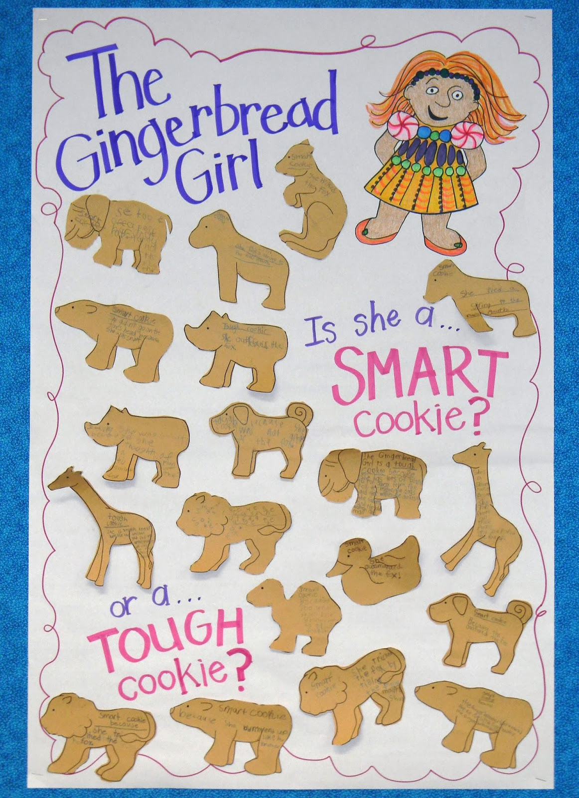 The Gingerbread Girl figurative language anchor chart