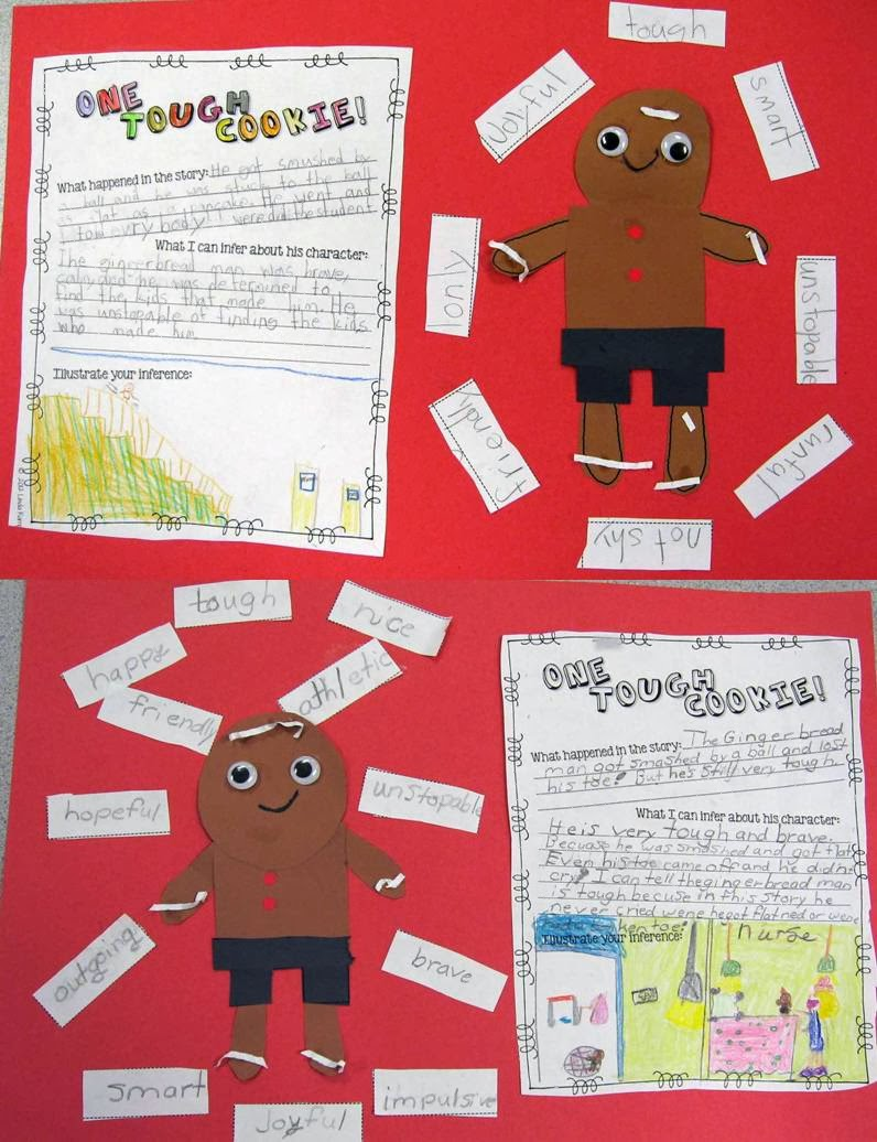 The Gingerbread Man Loose in the School character traits craft