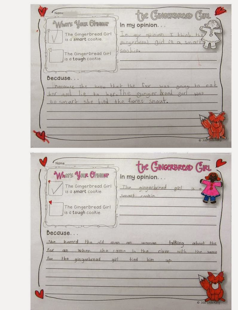The Gingerbread Girl figurative language activity