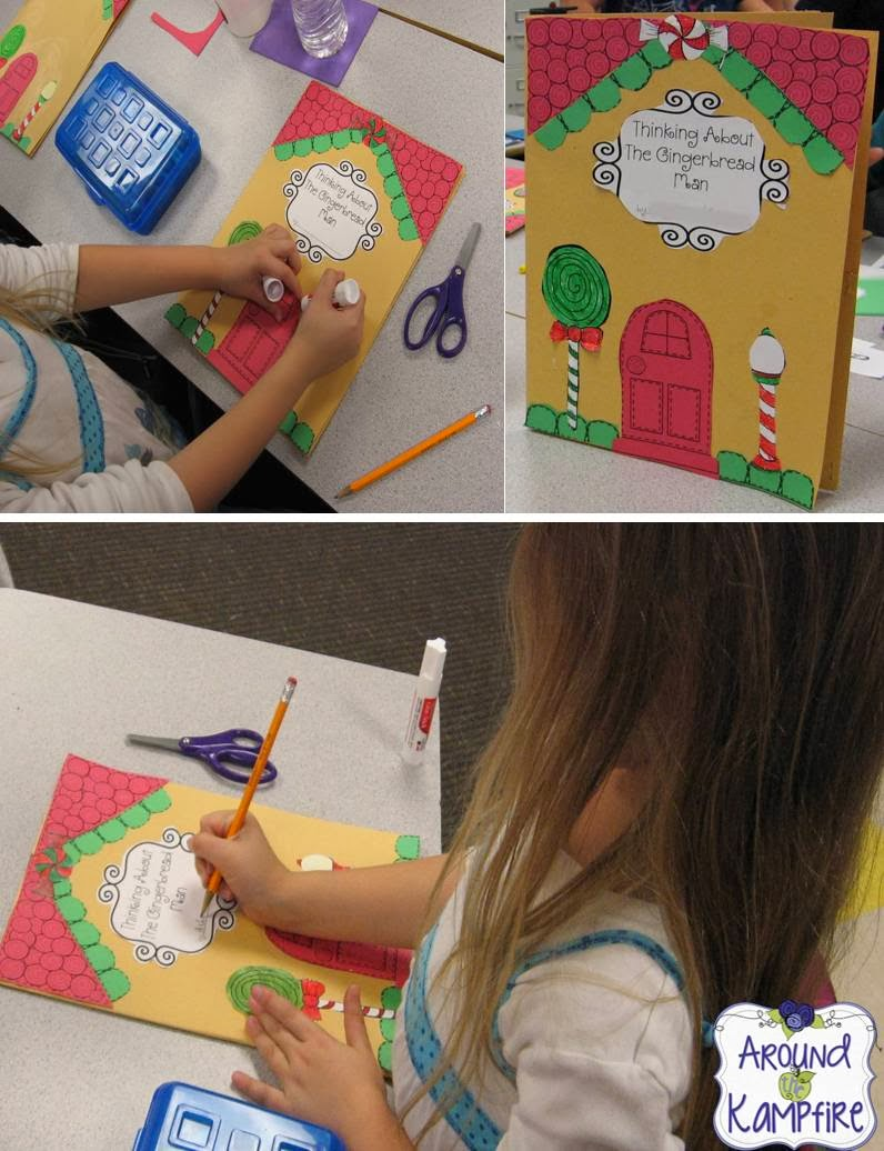 Gingerbread house folders to keep students organized during a gingergread unit!