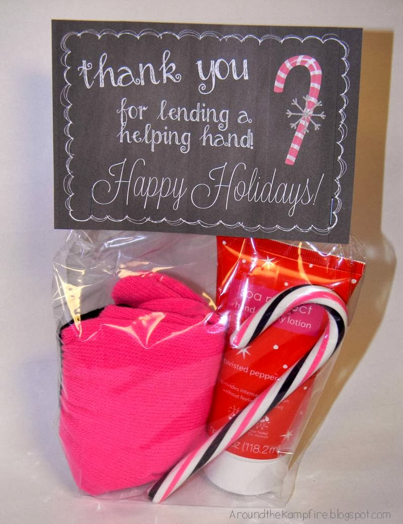Free printable holiday gift tags for parent volunteers