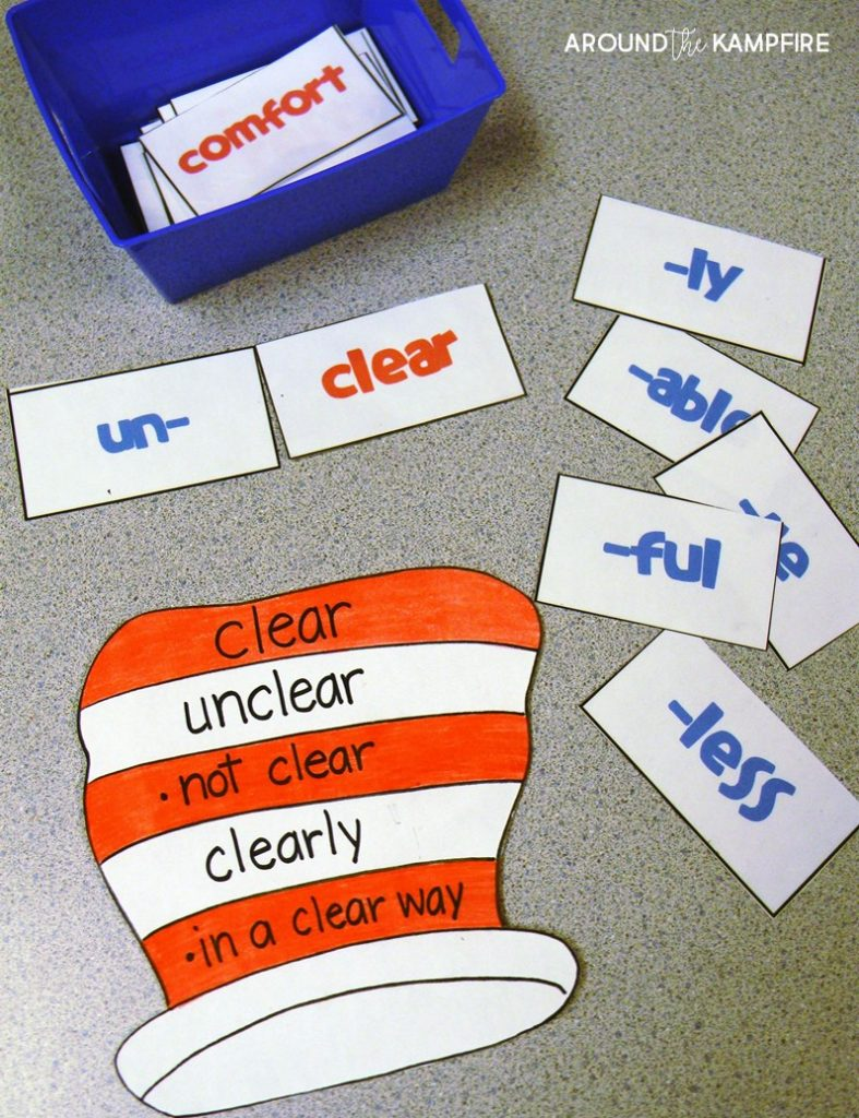Literacy Week prefix suffix activity