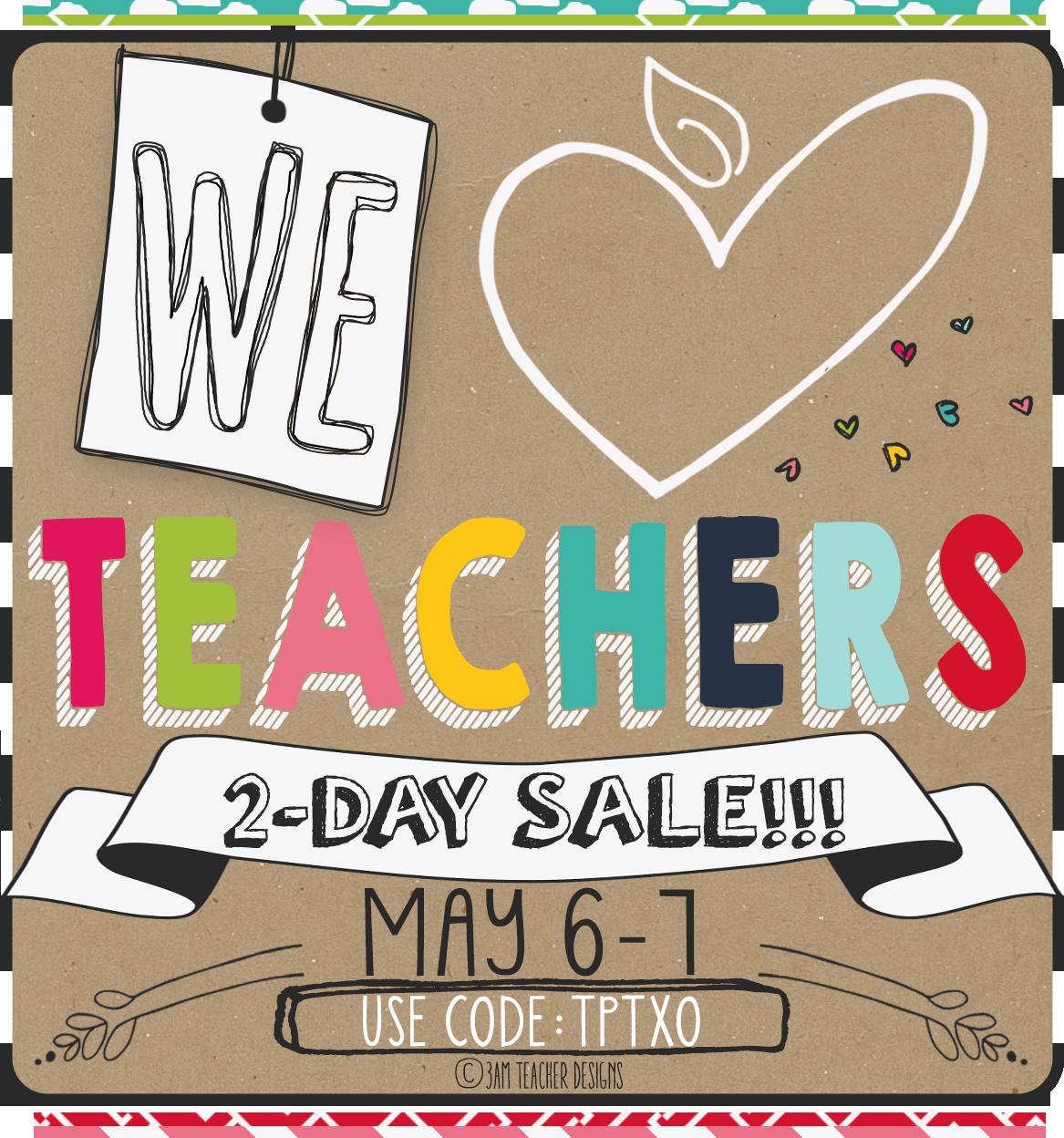It's a Teacher Appreciation Sale!