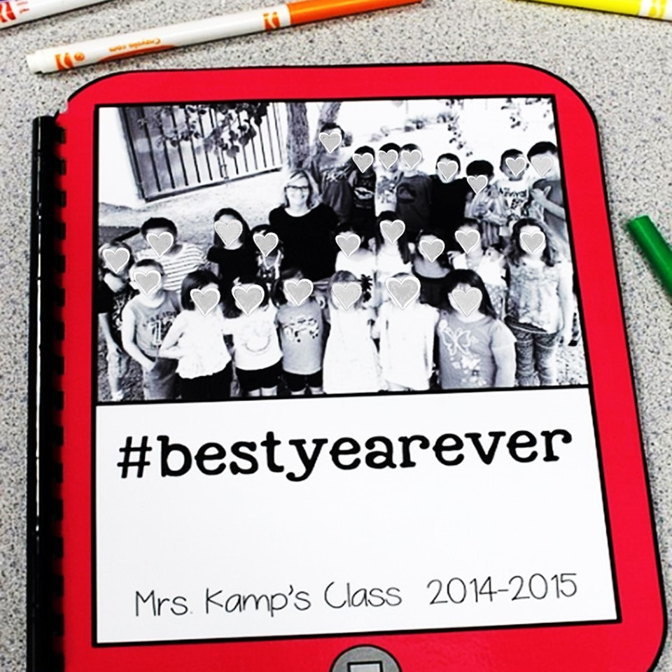Have you ever done a hashtag hop with your class? It's one of my favorite lend of the year activities! See how I held a class hashtag hop and ended up with a hashtag teacher memory book!