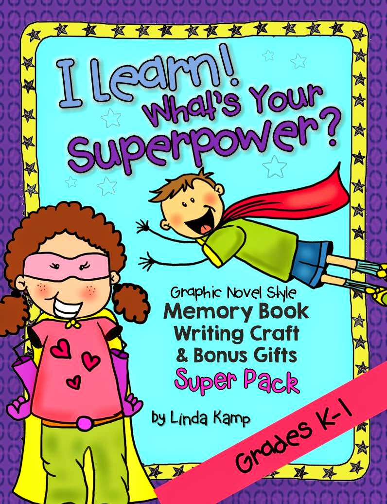 Superhero memory book bundle with mask and shield craft for Kindergarten and First grade.