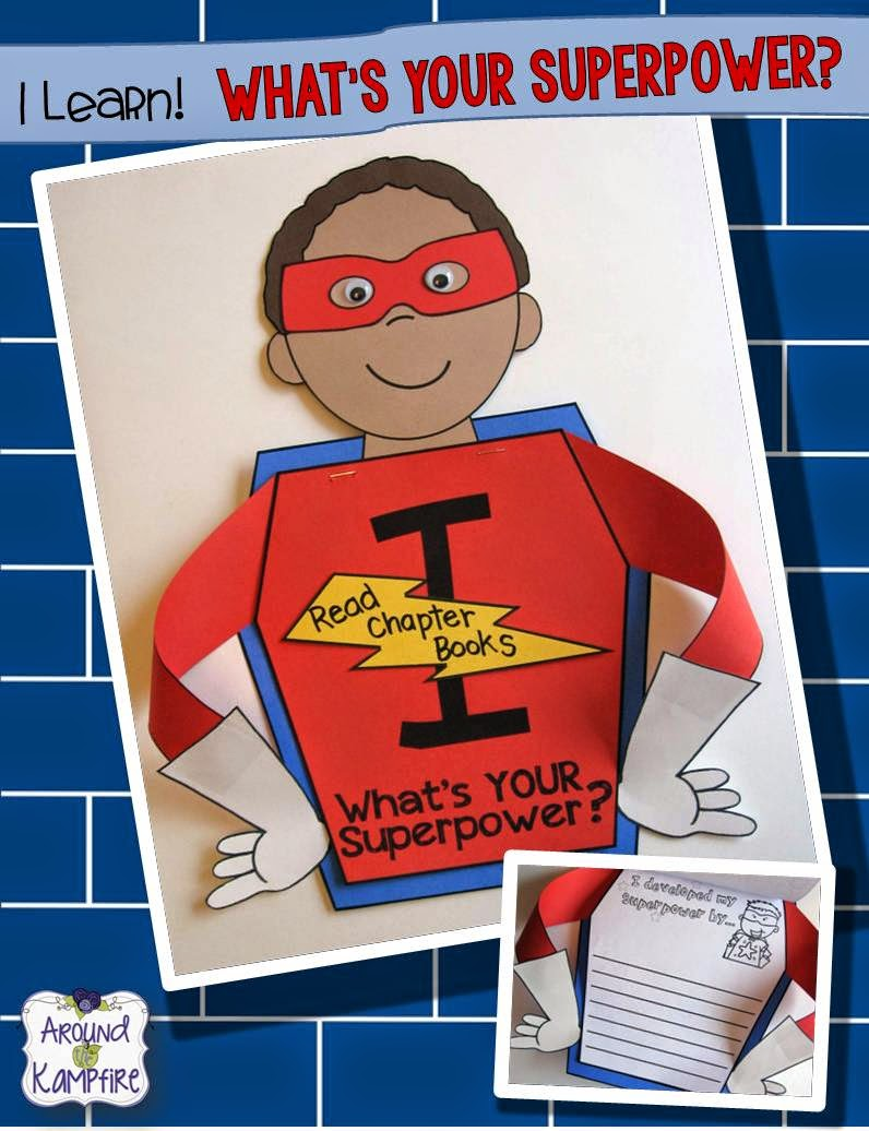 Superhero goal setting and accomplishment reflection craft