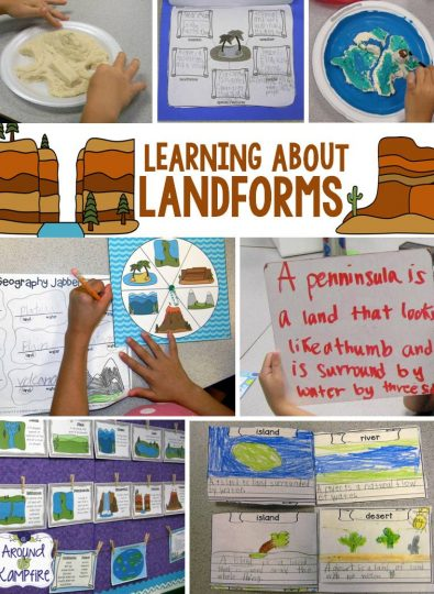 Hands-on teaching activities for learning about landforms