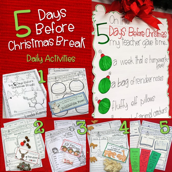 Delight your students with these simple daily countdown gifts and matching Christmas (or winter break version) activity pages. Students use the gifts to complete the tasks!