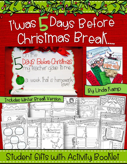 "Easy student gifts with activity booklet for that last CraZy week before Christmas break! (Includes a ""Winter Break"" version too!)"
