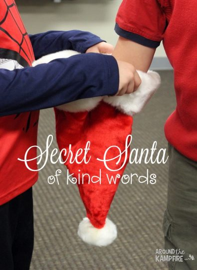 Christmas Countdown Activities Secret Santa of Kind Words