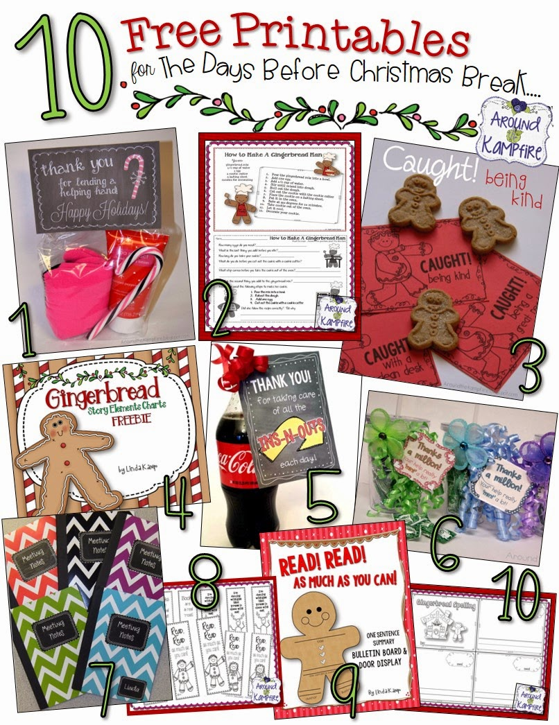 10 Free Christmas classroom printables for student activities and volunteer gifts