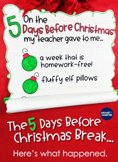 If you're looking for fun classroom Christmas activities this post is a must-read! See the one of the most fun things I've ever done with my first and second graders and the unique way I kept everybody engaged and still learning that last crazy week before Christmas break!