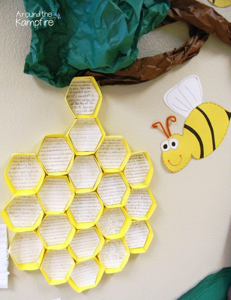 Bee reports published in a beehive! So much fun and so easy to make!