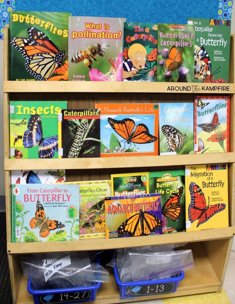 Butterfly life cycle nonfiction texts and picture books for class read alouds.