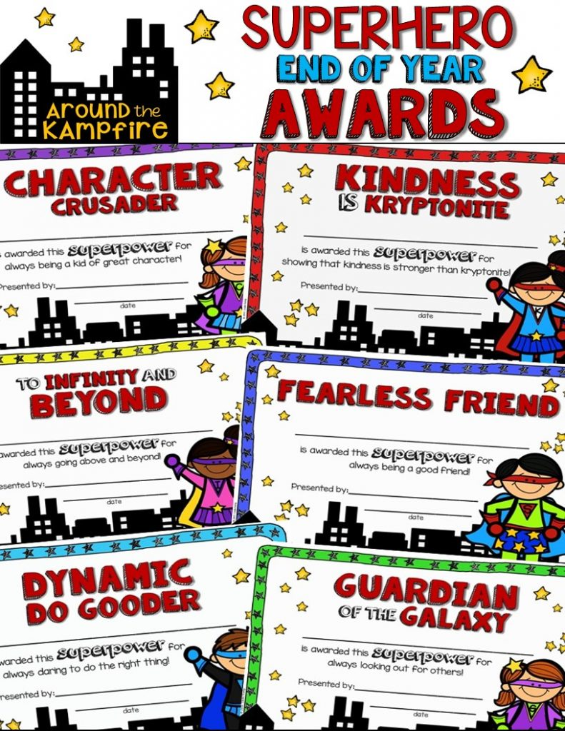 10 Ways To Give Your Students a Superhero Sendoff~Our Superhero awards ceremony with some pretty unique awards!