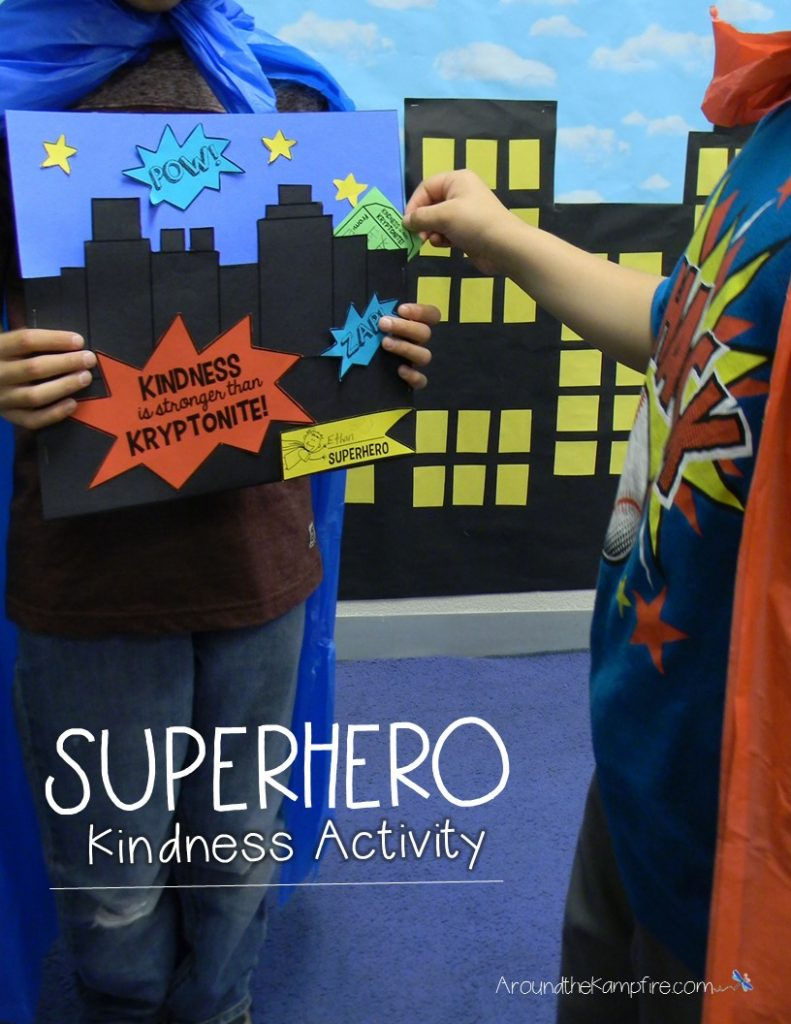 Superhero kindness activity- Students fill their friends' city with kind words of Kryptonite!