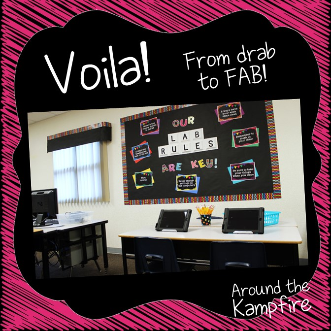 Computer lab decor ideas to spruce up your lab with chalkboard decor. See how to not only brighten up and organize your lab, but also help it run more smoothly with these classroom management ideas and bulletin boards.