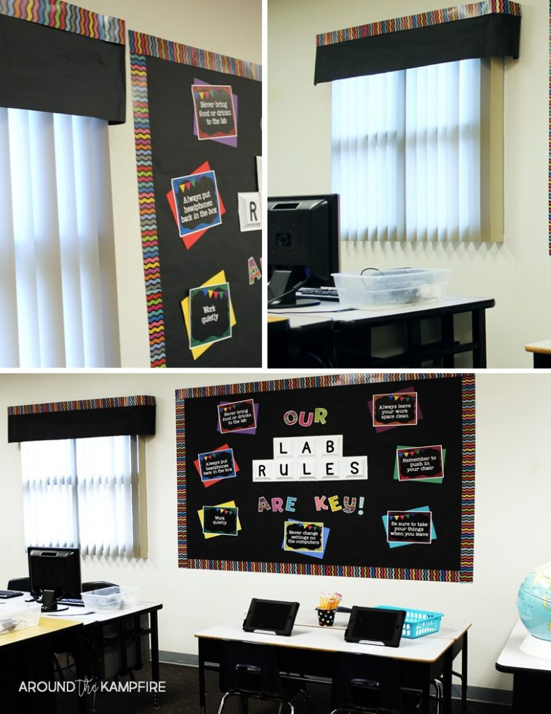 Computer Classroom Decorations ~ Spruce up your computer lab with chalkboard decor around