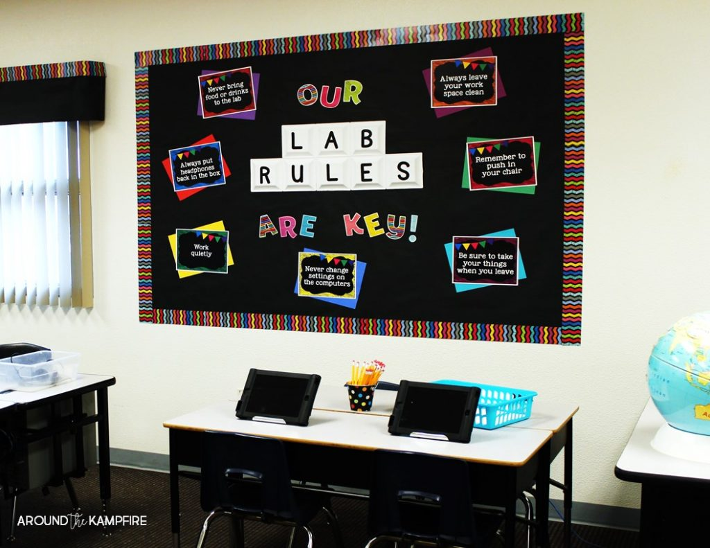 Classroom Decoration Ideas For High School Computer Lab : Spruce up your computer lab with chalkboard decor around
