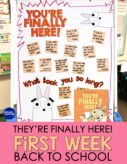 You're Finally Here first day of school anchor chart
