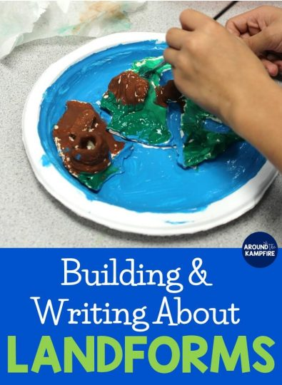 Building and Writing About Landforms-teaching ideas and hands-on project for 1st, 2nd, and 3rd grade students. Ideal for project based learning for science in classrooms and homeschool.