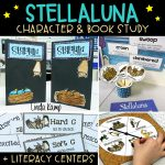 Stellaluna Character and book study with Stellauna activities for comprehension, character analysis, and point of view. Includes culminating writing project and literacy centers.