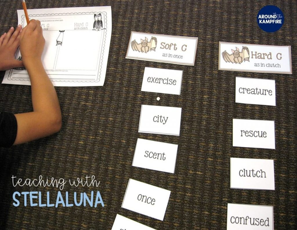Stellaluna teaching activities and literacy centers. This book lends itself so well to students working with the 2 sounds of C.