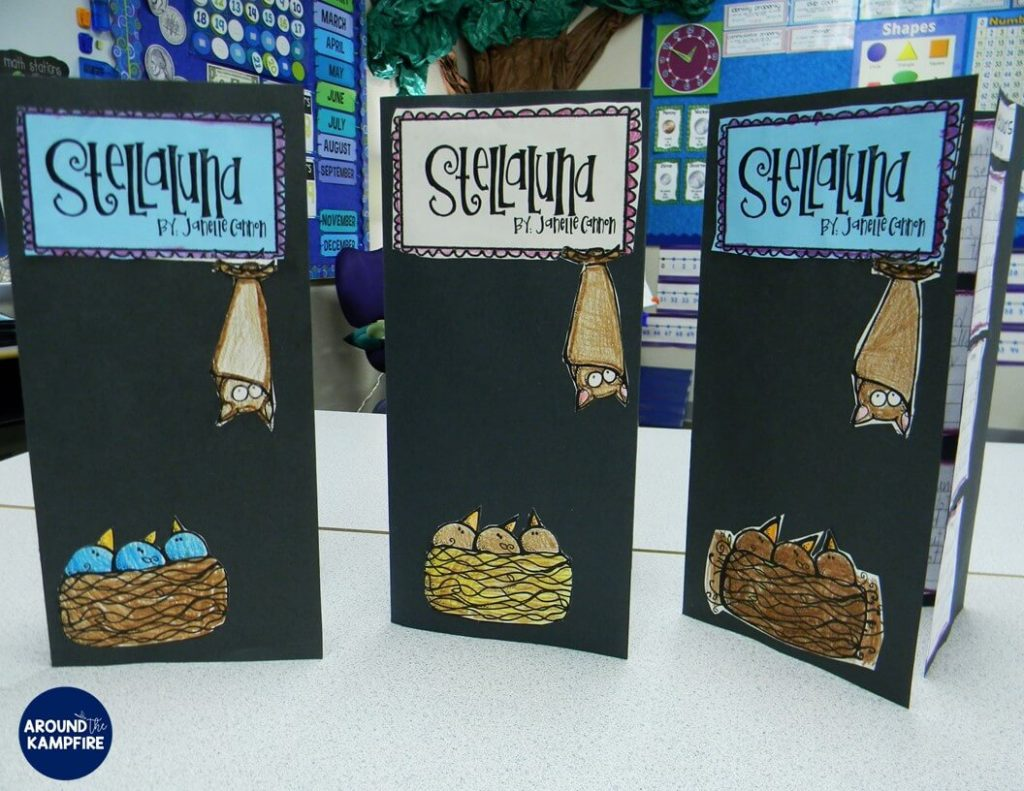 Stellaluna teaching activities with foldable booklet for analyzing characters and determining their points of view.