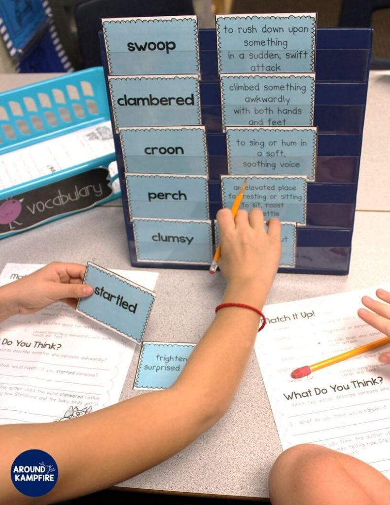 Stellaluna teaching activities- Reinforcing vocabulary during literacy centers.