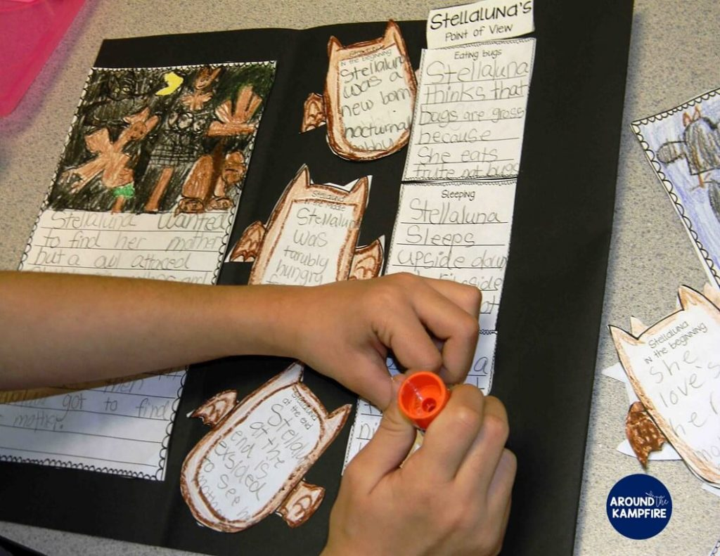 Stellaluna teaching activities-foldable lapbook for students to analyze characters and determine their points of view. A great way to get student writing about reading!