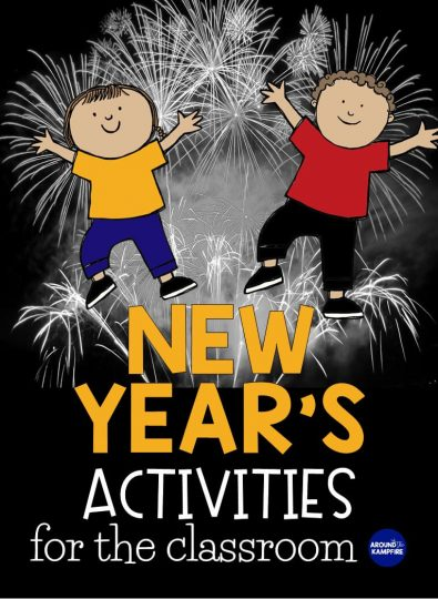New Year's Activities for the classroom-5 fun teaching ideas and January activities for reading, writing and setting goals that will help your 1st, 2nd, and 3rd graders start the new year off right!
