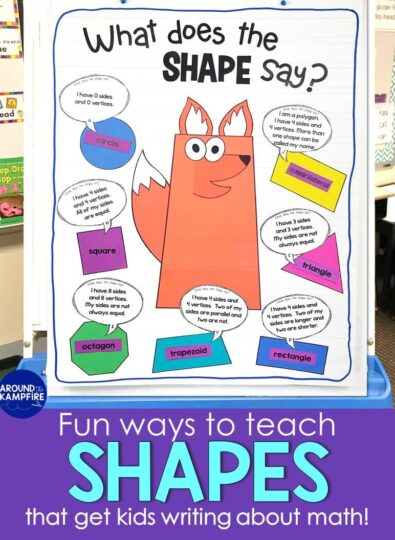 2D 3D shapes anchor chart what does the shape say