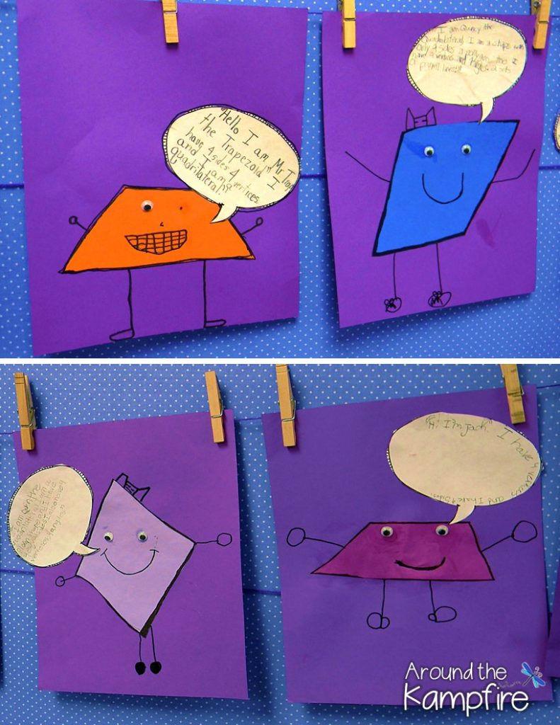 Fun ways to teach shapes! Quadrilateral quotations are always a hit!